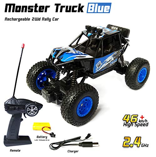 Wembley Toys 1:20 Powerful Remote Control Cars For Boys And Kids Rechargeable Battery 2.4 Ghz Car Rock Crawler Remote Control Monster Car R/C Monster Truck Monster Truck Remote Control 4x4 Rc Cars With High Speed Toys Car Remote Car - Multicolor (Assorted)