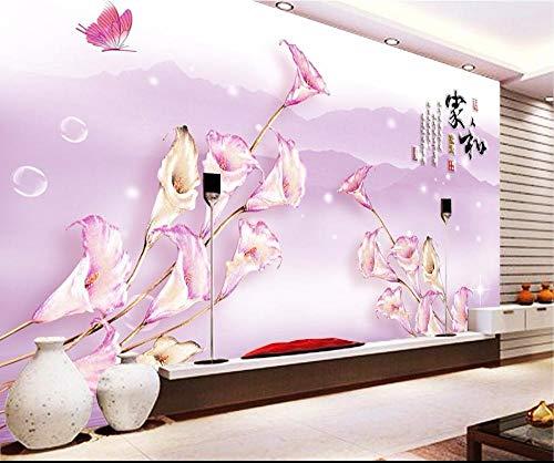 Behang muurschildering 3D kamer foto behang aangepaste muurschildering callas vlinder landschap decoratie schilderen 3D muur muurschilderingen behang voor muren 3D 250x175cm