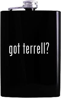 got terrell? - 8oz Hip Alcohol Drinking Flask, Black