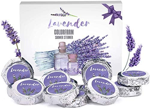 Colorfarm Aromatherapy Shower Steamers Set of 12X Shower Tablets 480g with Lavender Essential product image