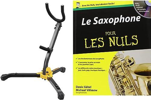 Hercules Stands DS530BB Support pour Saxophone Alto/Ténor Noir & Le Saxophone pour les Nuls