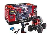 Revell Control 24559 RC Monster Truck Predator in Bulli-Optik, 2.4 GHz, für Links-und Rechtshänder, Li-Ion-Akku, bullige Reifen, 29 cm ferngesteuertes Auto, rot