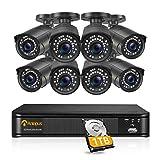 Anlapus H.265+ 5MP 2TB PoE Kit Vidéosurveillance Caméra de Surveillance Extérieure IP67 5MP avec NVR Enregistreur 8CH en 5MP Accès à Distance App Gratuite 30M Vision Nocturne