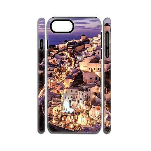 Plástico De Carcasa De Teléfono Y Gel De Sílice Suave Creativo Hombres Usar como Apple iPhone 7Plus 8Plus 5.5Inch con Santorini Choose Design 120-5