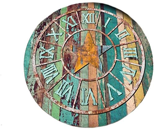 Iovv Matta - Round Matta Creative vardagsrum kaffebord Sovrum Säng Continental (Storlek: 120 cm), Storlek: 60cm (Size : 140cm)