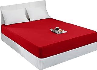 Mixibaby Drap-housse en jersey 100 % coton - 28 couleurs - Dimensions : 200 x 200 cm - Couleur : rouge