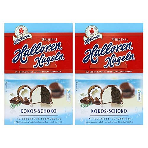 2er Pack Original Halloren Kugeln Kokos-Schoko (2 x 125 g) Hallorenkugeln Halloren Schokolade