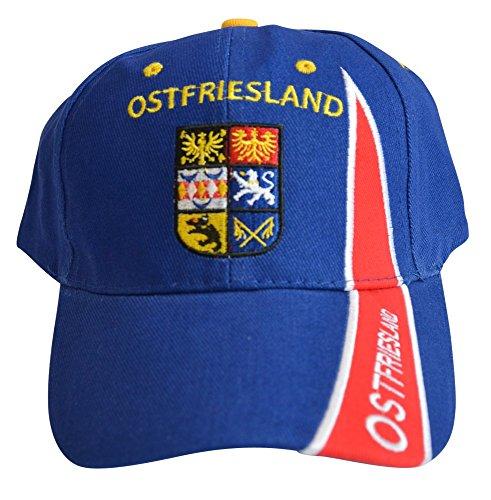 Flaggenfritze Kappe Motiv Deutschland Ostfriesland Fahne, fan - Cap mit ostfriesischer Fahne