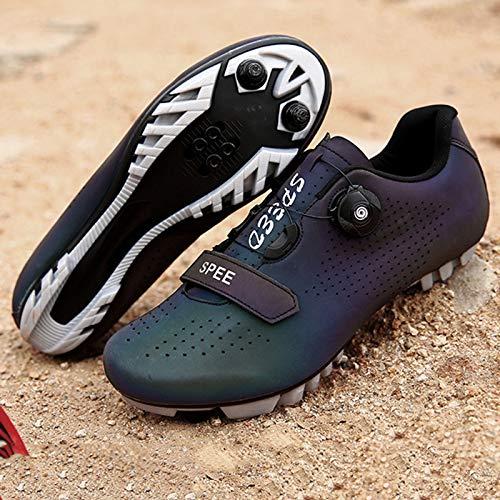 Zapatillas Bicicleta Carretera, Zapatillas Ciclismo Para Hombre, Zapatillas CóModas Primera Calidad, Con Tacos, Zapatillas Spd Para Hombre, Zapatillas Ciclismo Carretera Para Interior E-UK 4=EU 38