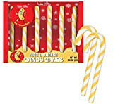 Archie Mcphee Mac And Cheese Candy Canes 3.8 Oz! Six Mac & Cheese Flavored Candy Canes! Yellow And white Stripes Colorful Sweets! Macaroni And Cheese Candies! Choose Your Flavor! (Mac & Cheese)