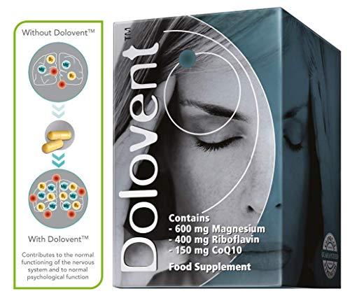 Linpharma Dolovent Magnesium, B2, CoQ10 Dietary Supplement for Brain Health- 1 Bottle