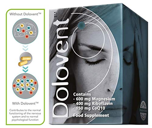 Linpharma Dolovent Magnesium, B2, CoQ10 Dietary Supplement for Brain Health - 1 Bottle