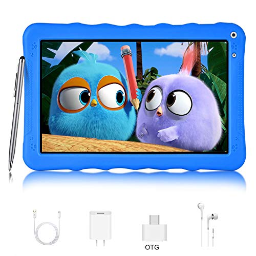 Tablet para Niños con WiFi Bluetooth Google GMS Android 9.0 Go Quad Core 9 Pulgadas DUODUOGO G22 3GB RAM 32GB ROM/64GB Escalables Doble Cámara 6000mAh Tablet Infantil Educativo (9'', Azul)