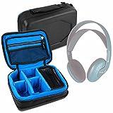 DURAGADGET Bolsa Acolchada Profesional Negra con Compartimentos para Auriculares ArkarTech Each G2000 / Beyerdynamic DT 131 / Coloud No. 16 / HP Omen/Jabra Evolve 75