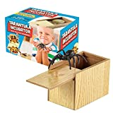 Gagster Upgraded Spider Prank Box - Fake Spider & Wooden Box Gag Gift for Kids - Joke Gift Box Packaging Adds to The Suspense - Unique Prank Toy - Always Startling