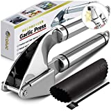 ORBLUE Garlic Press, Stainless Steel Mincer and Crusher with Garlic Rocker and Peeler Set –...