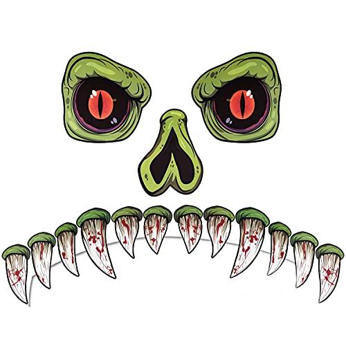CCINEE Halloween Monster Face Outdoor Decoration with Eyes Fangs Nostril Garage Door Archway...