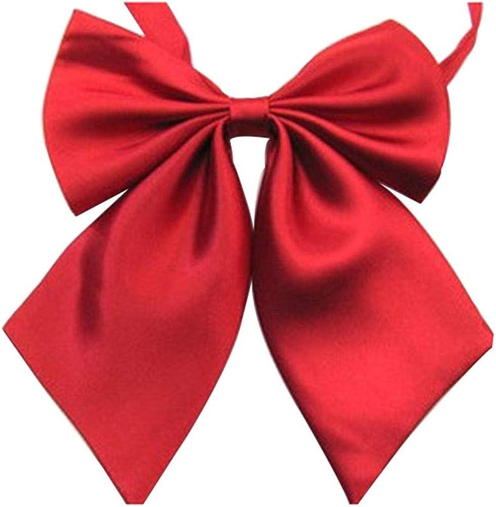 Women's Solid Color Bow Tie School Student Sailor Suit Bowknot Adjustable Ribbon