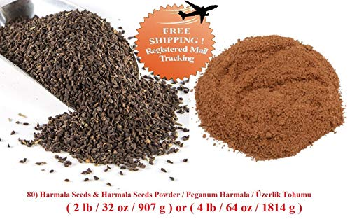 Bio-Saatgut Nicht nur Pflanzen: Samenpulver: 80 EIN Samen & Powder/Üzerlik tohumu (Wählen 2or 4) mit der Faehre