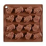 BESTONZON 16 Cavity Silikon Pralinenformen Schokoladenformen Katze geformt für Bonbonbs...