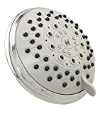 Vida Alegria 5-Inch Spashower High Pressure Shower Head; 2.5 gpm, 5 Sprays + Water-Saver (Chrome)