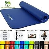 MSPORTS Gymnastikmatte Premium inkl. Tragegurt + Übungsposter + Workout App GRATIS I Fitnessmatte Königsblau - 190 x 100 x 1,5 cm Hautfreundliche Phthalatfreie Yogamatte