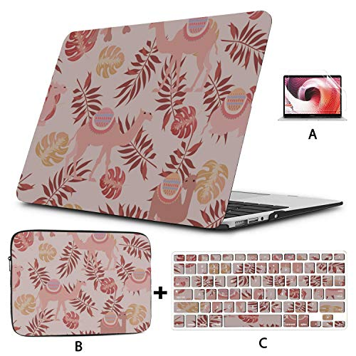 MacBook Air 1466 Case Natural Cartoon Wild Animal Camel Mac 13 Inch Case Hard Shell Mac Air 11'/13' Pro 13'/15'/16' with Notebook Sleeve Bag for MacBook 2008-2020 Version