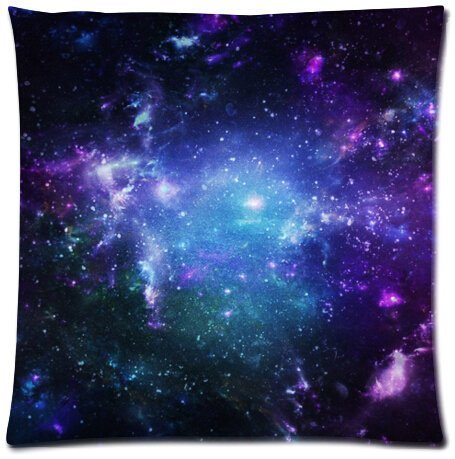 Space Nebula Universe Retro Galaxy Beautiful Design Cushion Case Throw Pillow Covers 18x18 inch (one side)