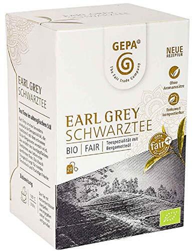 Gepa Bio Earl Grey Schwarztee - 100 Teebeutel - 5 Pack ( 20 x 1,7g pro Pack)