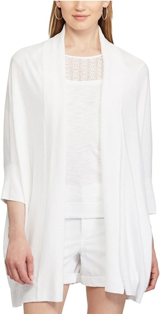 Chaps Womens' Solid Open-Front Cardigan