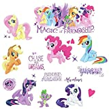 RoomMates RMK3551SCS My Little Pony The Movie Peel & Stick Wall Decals with Glitter, Multicolor, 8'