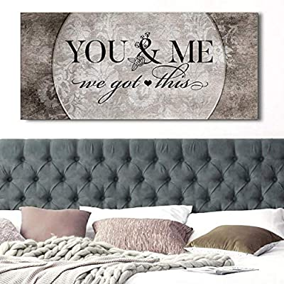 Sense Of Art | You and me we got This Quote | Wood Framed Canvas | Ready to Hang Family Wall Art for Home and Kitchen Decoration from Sense of Art
