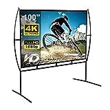 Pantalla Home Cinema 233X139Cm (100 '') Pantalla De Proyector MóVil 16: 9 FáCil InstalacióN Y OperacióN Adecuado para Home Cinema Y Pantalla De ProyeccióN para Exteriores (100S)