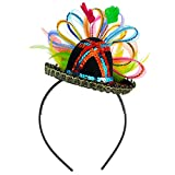 Skeleteen Womens Fiesta Sombrero Headband - Mexican Fancy Fascinator Girls Hair Accessories for Kids and Adults