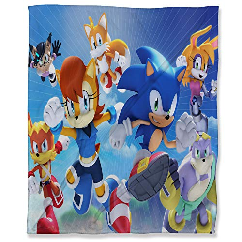 ARYAGO Ultra Soft Throw Blankets 100 x 130 cm, Sonic The Hedgehog Bedroom Warm Blanket for Couch Sofa Bed, Super Sonic