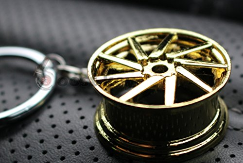 Felge Gold-Chrom #79 Schlüsselanhänger - massiver Anhänger - von VmG-Store OEM VAG DUB
