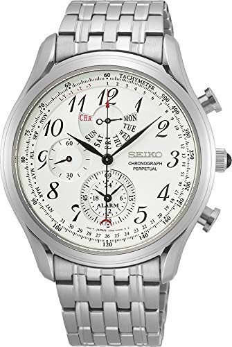 Seiko Men's Analog Japanese Quartz Watch with Stainless Steel Strap SPC251P1