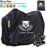 Professional Large Mobility Scooters Storage Covers with 2 Vents Outdoor,420D Oxford Cloth Durable Waterproof & Windproof All Weather Electric Power Assisted Wheelchairs Cover-56L x 26W x 36H Inch