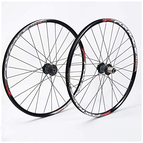MTB Cycling Wheels 26 Inch, Double Wall Mountain Bike Quick Release Discbrake Hybrid Mountain Bicycle 24 Hole 7/8/9/10 Speed