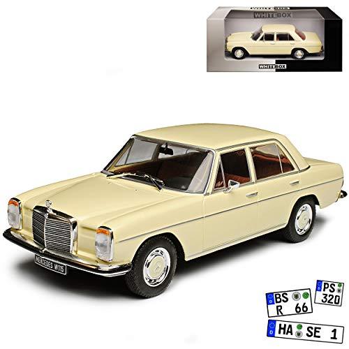WHlTEBOX Mercedes-Benz 200 /8 Strich Acht Limousine Beige Weiss W114 W115 1967-1976 1/24 Whitebox Modell Auto