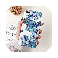 For iPhone 12Proケース用レトロバナナリーフフラワーフォンケースFor iPhone12 Mini 11 Pro Max XR XS Max 7 8 Plus Soft IMD Cover Coque-e-For 7 Plus or 8 Plus