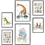 Frechdax® Kinder Poster Set | Wandbilder als Kinderzimmer