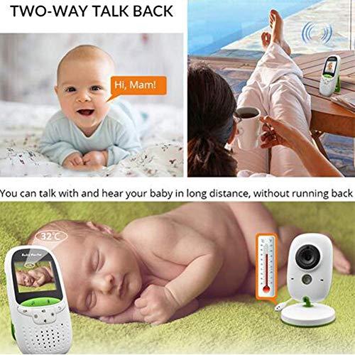 PPWYY Moniteur bébé Vidéo Baba Electronic Interphone Portable Audio sans Fil Appareil Photo Bebe Nanny Talkie walkie
