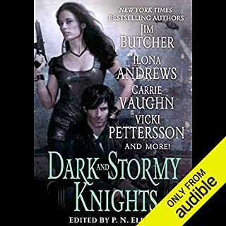Dark and Stormy Knights                   By:                                                                                                                                 Ilona Andrews,                                                                                        Jim Butcher,                                                                                        Shannon K Butcher,                   and others                          Narrated by:                                                                                                                                 Renee Raudman,                                                                                        Joe Barrett,                                                                                        Marc Vietor,                   and others                 Length: 10 hrs and 29 mins     5 ratings     Overall 4.4