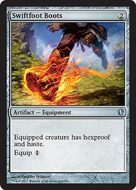 Magic: the Gathering - Swiftfoot Boots (263/356) - Commander 2013 by Magic: the Gathering