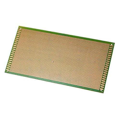 JimTw-UK - Placa de circuito universal de 13 x 25 cm, fibra de vidrio FR-4