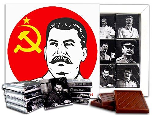DA CHOCOLATE Candy Souvenir JOSEPH STALIN Chocolate Gift Set 5x5in 1 box (Flag)