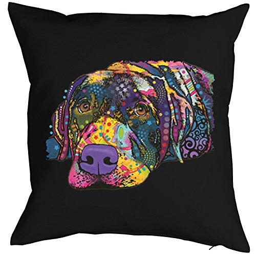 SAVVY Labrador Pillow, oreiller, almohada, Cuscino Pop Art Style