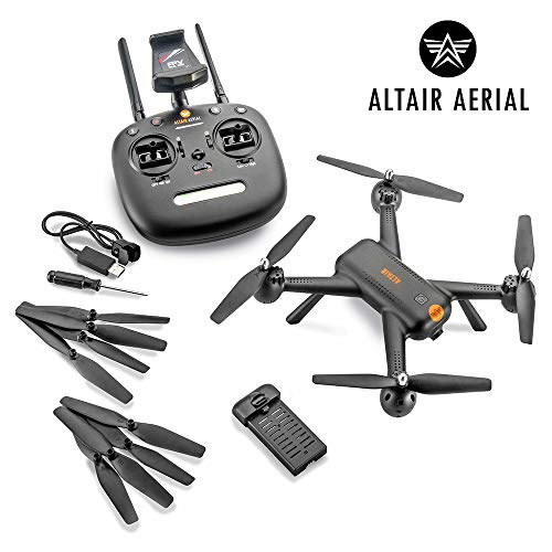 Altair Aerial AA300 Beginner Drone with 1080p Camera and GPS, Autonomous Return Home, Follow Me.