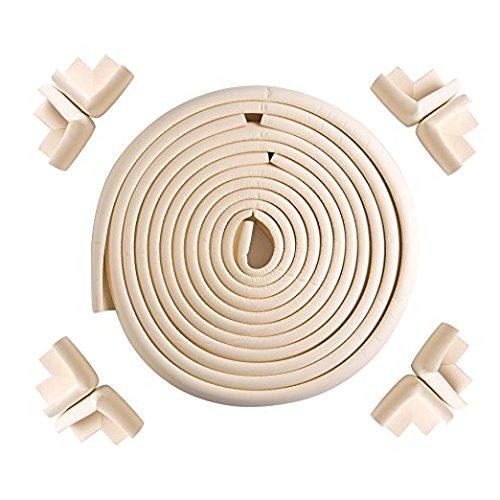 Tebery 6m Länge Kantenschutz + 8 Eckenschützer, soft ungiftig und umweltfreundlich